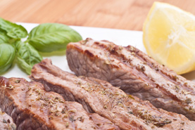 Beef fillet with lemon sauce
