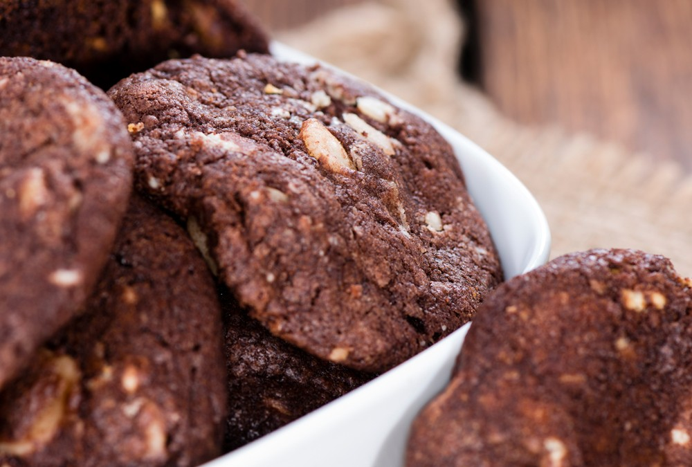 Chocolate Biscuits with Macadamia Nuts