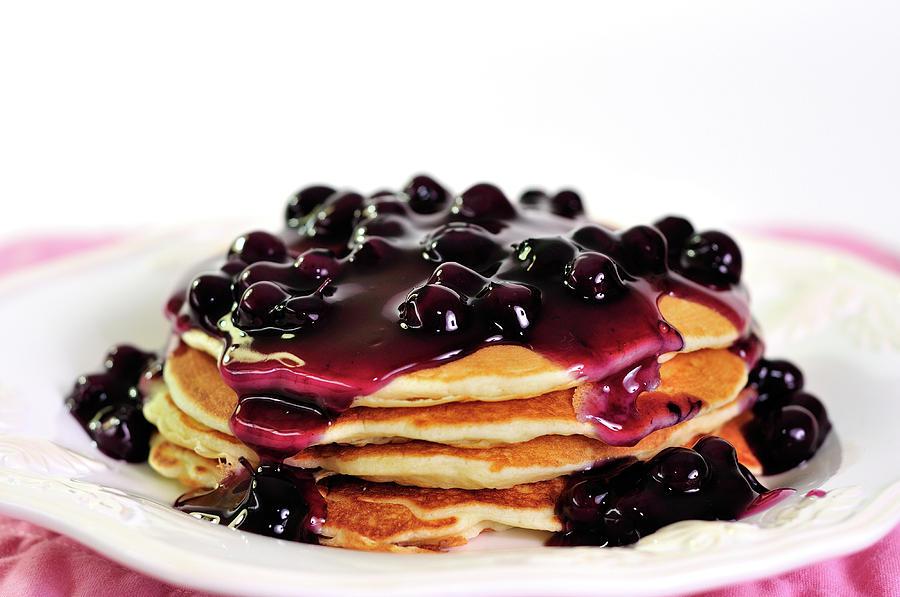 Pancakes με φρούτα του δάσους