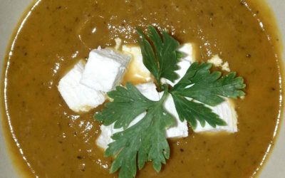 Σούπα βελουτέ λαχανικών με ανθότυρο